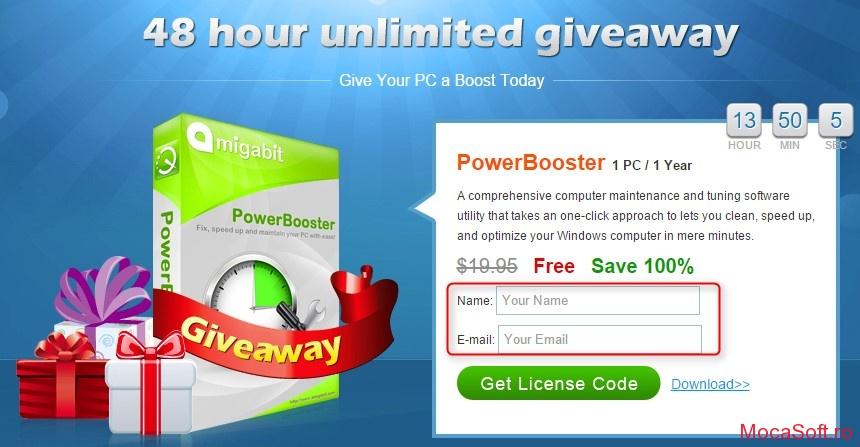 Amigabit Powerbooster - Licenta Gratuita (promotie)