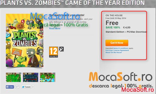 Descarca Gratuit Plants vs. Zombies Editia Game of the Year.