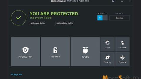Bitdefender Antivirus Plus 2015 – Licenta Gratis 6 Luni