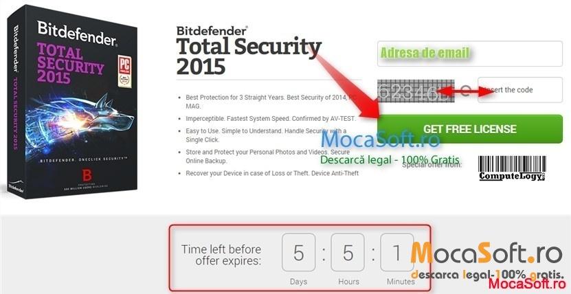 Download Bitdefender Total Security 2015 Gratis pentru 180 de zile