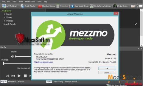 Mezzmo (DLNA Media Server) Gratis Serial Number / License Key