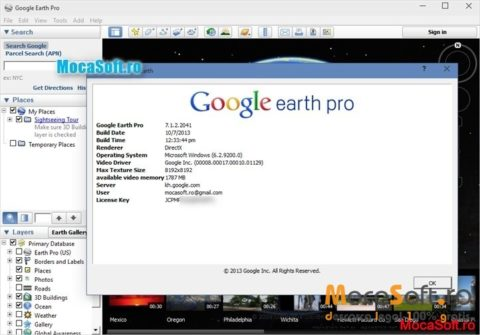 Google Earth PRO Acum Gratis Pentru PC & MAC: Descarca Versiunea full / License Key Free @ Google