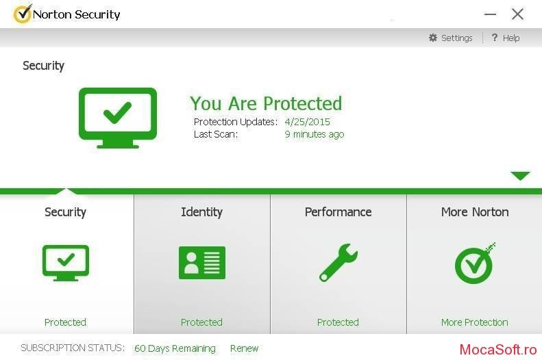 Norton Security si Norton Security cu Backup Gratuit 90 de zile