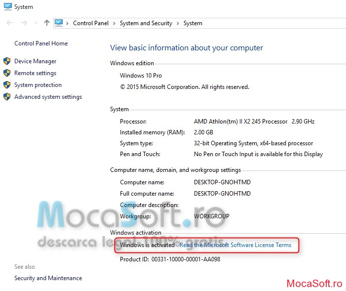 Cum Activez Windows 10 build 10240_mocasoft.ro.