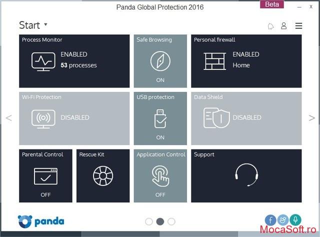 Panda Global Protection 2016 - Licenta gratis pentru 6 Luni