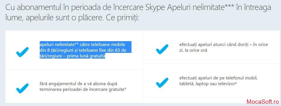 Skype Unlimited Worldwide - Suna Gratuit Cu Skype 1 Luna full