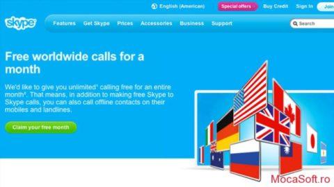 Skype Unlimited Worldwide –  Suna Gratuit Cu Skype 1 Luna