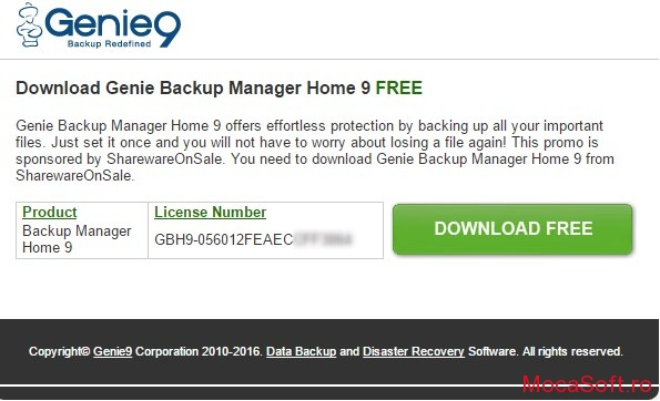 Genie Backup Manager Home 9 giveaway
