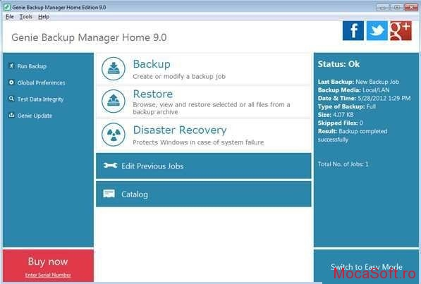 Genie Backup Manager Home 9 Free Serial Number