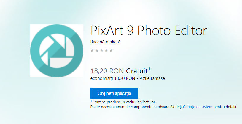 Photo of PixArt 9 Photo Editor – Gratuit pentru Windows 10