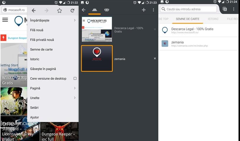 Browserul Firefox pentru Android