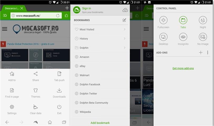 Browserul Dolphin pentru Android