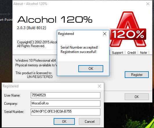 Alcohol 120% - Licență Gratis 1 An | Descarca Legal - 100% Gratis