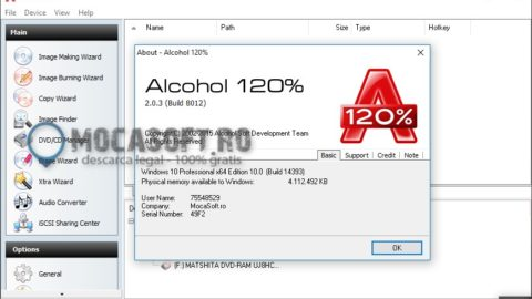 Alcohol 120% – Licență Gratis 1 An