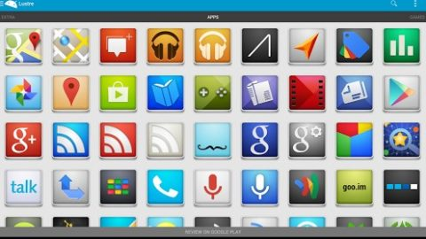 Lustre – Icon Pack Gratuit (Android)