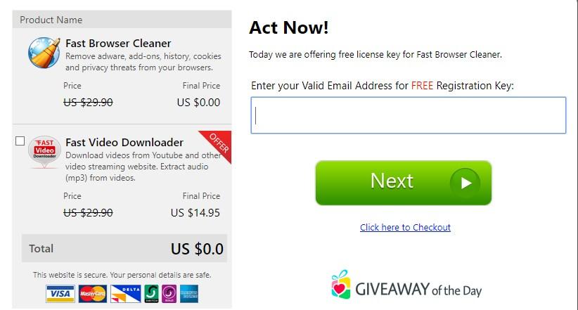 Fast Browser Cleaner Licenta Gratis