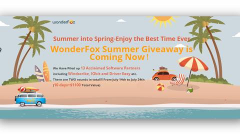 WonderFox Promotii de vară (software gratis in valoare de 1100 $)