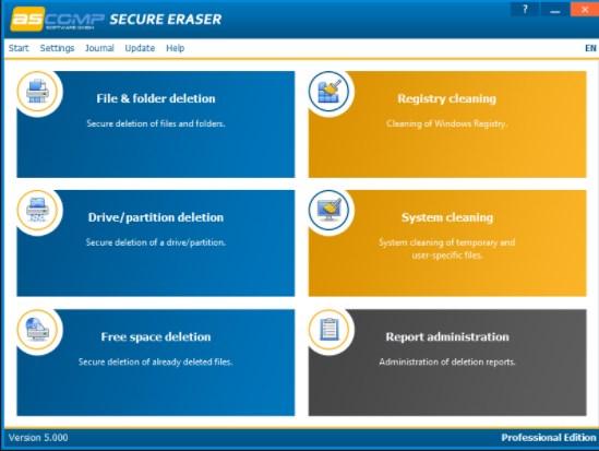 Ascomp Secure Eraser Professional