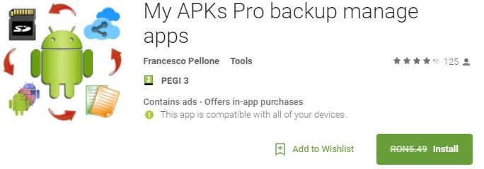 My APKs Pro backup