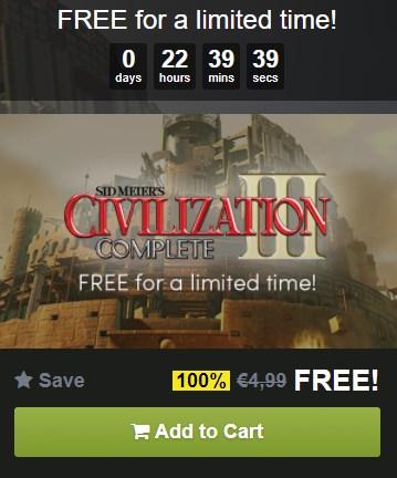 Sid Meier's Civilization III Complete Edition Gratis