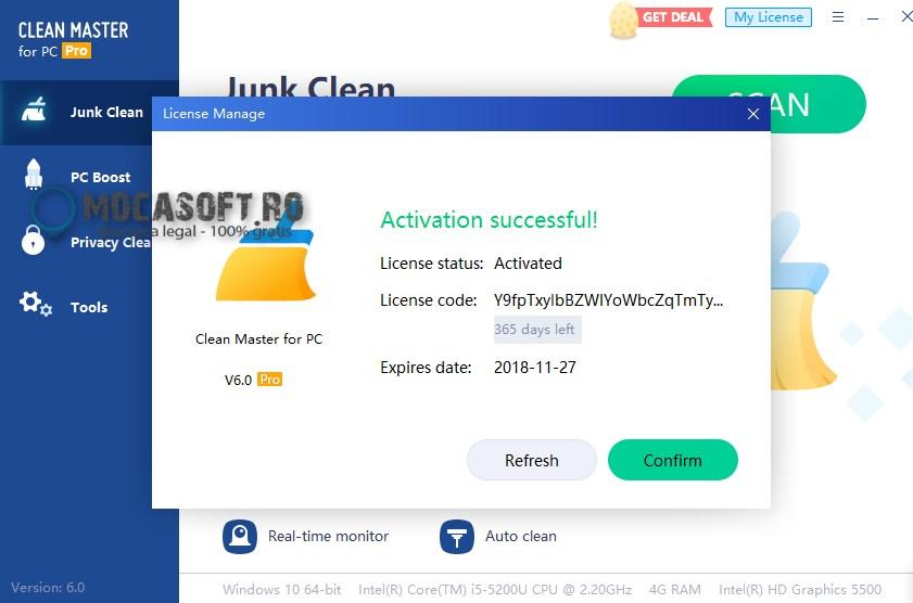Clean Master Pro Licenta Gratis (PC) Licenta Valabila 1 An