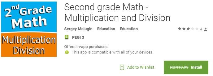 Matematica - Înmulțire și diviziune