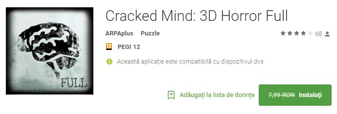 Cracked Mind 3D Horror Full Joc Android Gratis