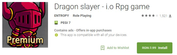 Dragon slayer - i.o Rpg game Joc Gatis Android