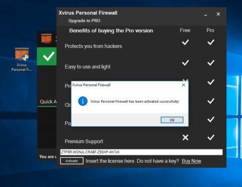 Xvirus Personal Firewall PRO Licenta Gratis
