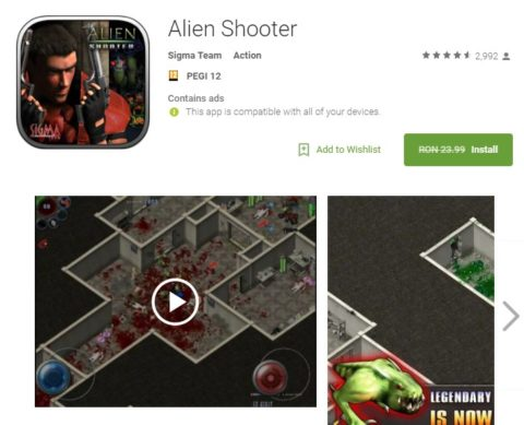 Alien Shooter Joc Android Gratis