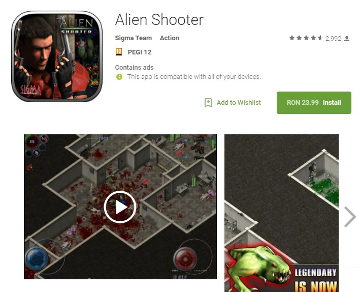 Alien Shooter Joc Android Gratis