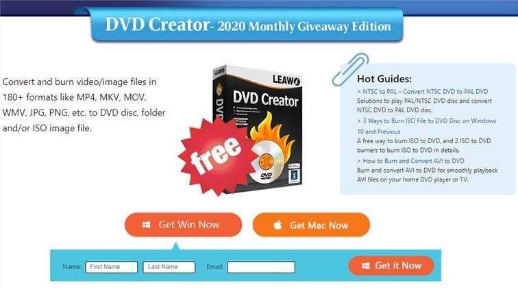 Leawo DVD Creator - Licenta Full Gratis