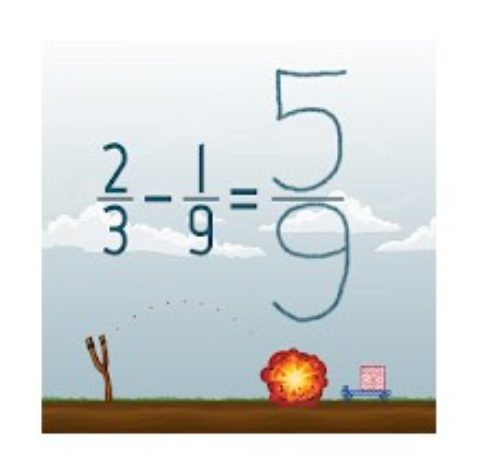 Subtract Fractions Math Game