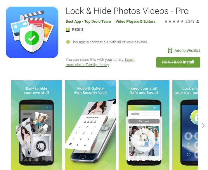 Lock & Hide Photos Videos - Pro (Android Giveaway)