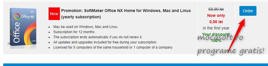 Giveaway SoftMaker Office NX Home for Windows, Mac and Linux (yearly subscription)