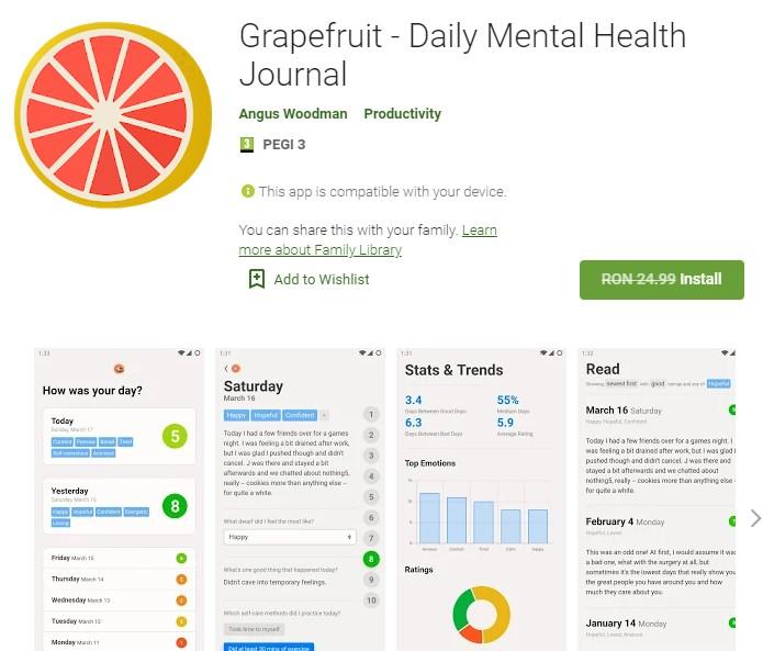 Grapefruit - Jurnalul zilnic de sănătate mintală