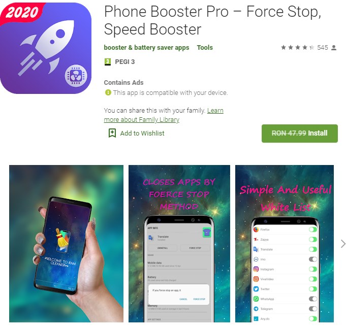 Phone Booster Pro – Force Stop, Speed Booster