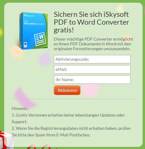 iSkysoft PDF to Word Converter Gratis