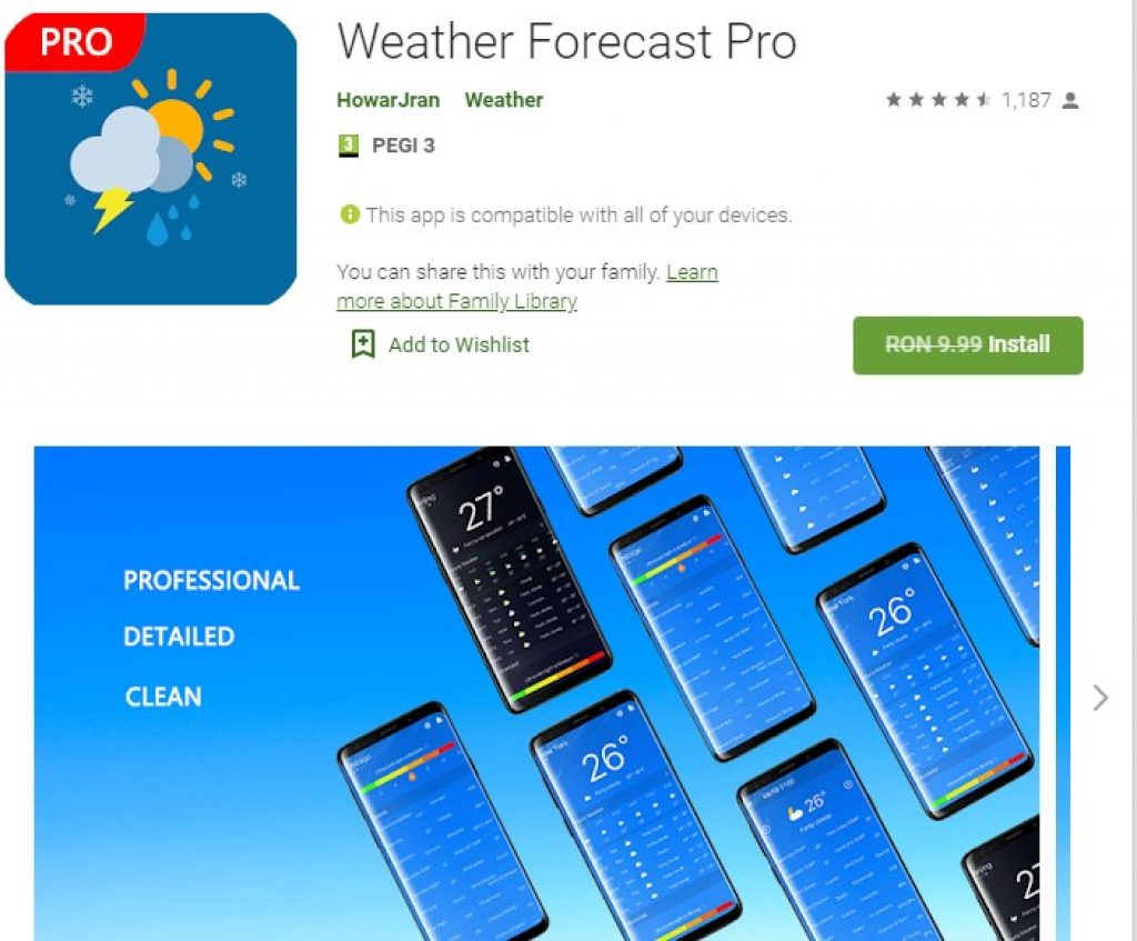 Weather Forecast Pro Paid Android App
