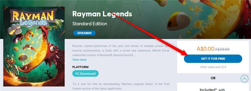Rayman Legends joc Full
