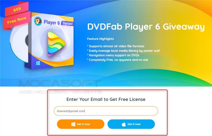 DVDFab Player Licenta Gratis Giveaway