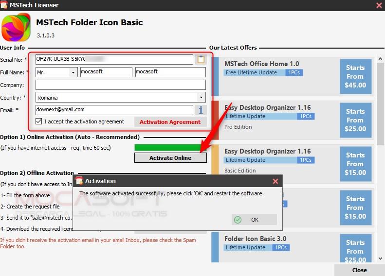 MSTech Folder Icon Giveaway - Licentă Gratuită