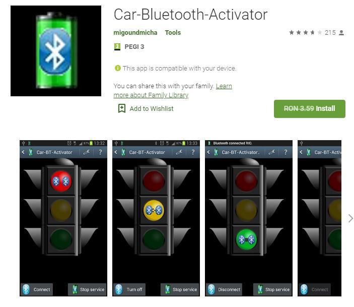 Car-Bluetooth-Activator Gratis Pentru Android