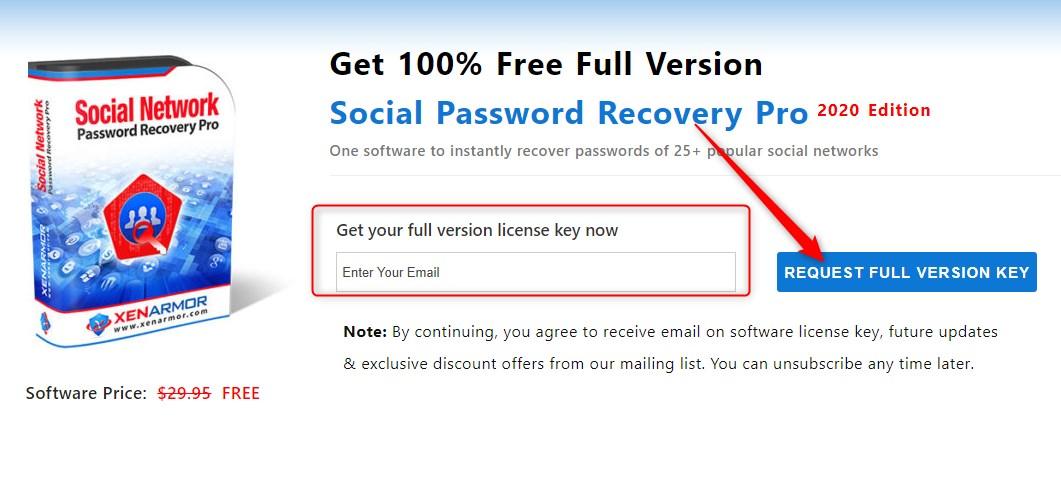 XenArmor Social Password Recovery Pro Gratis