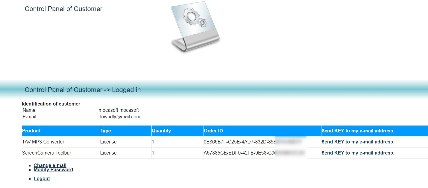 1AV MP3 Converter poza cu licenta obtinuta