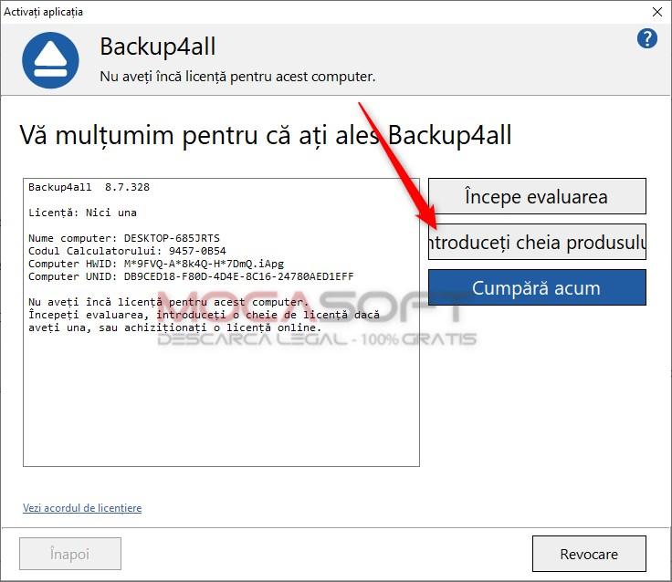 Backup4all Activare