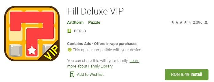 Fill Deluxe VIP