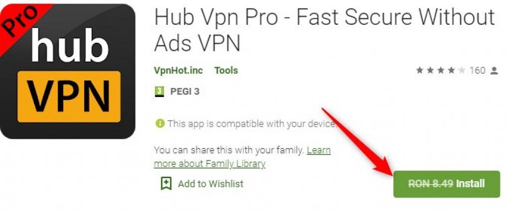 Hub Vpn Pro Gratis pentru Android