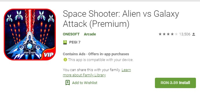 Space Shooter Alien vs Galaxy Attack (Premium)