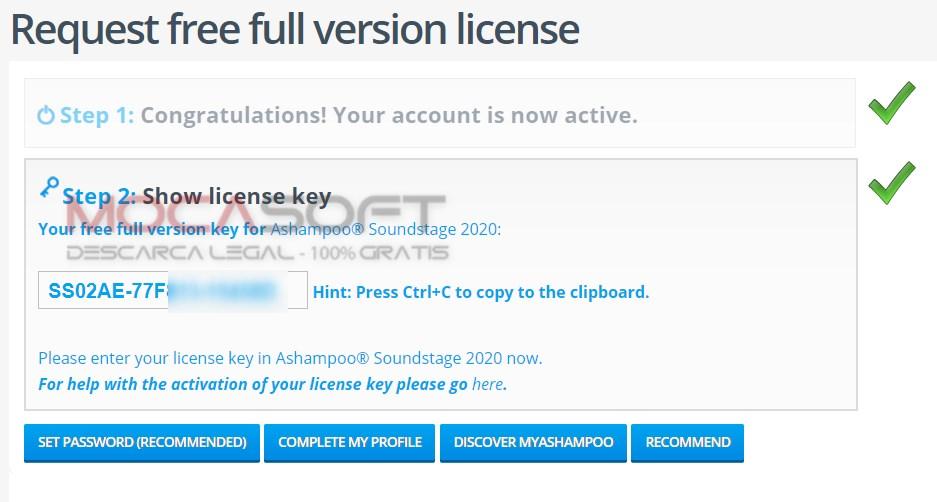 Ashampoo license key